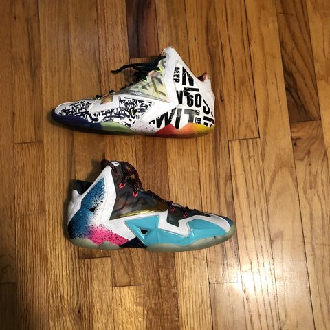 """d37a113c626062 Nike lebron 11 """"what the"""" size 8 in 8.5 10 in awesome only a - Depop"""