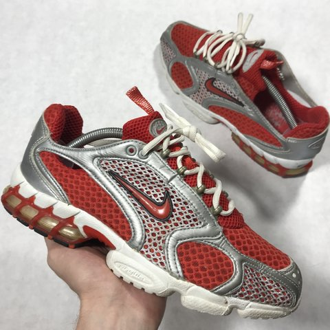 8435d696ddc9 Vintage 2003 Nike air zoom spiridon! Chili red rare and in - Depop