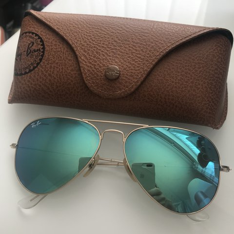 62fa8998434b3 Ray-Ban Blue Green mirrored aviator sunglasses