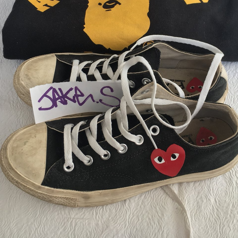 CDG Play Small Heart Converse Bought