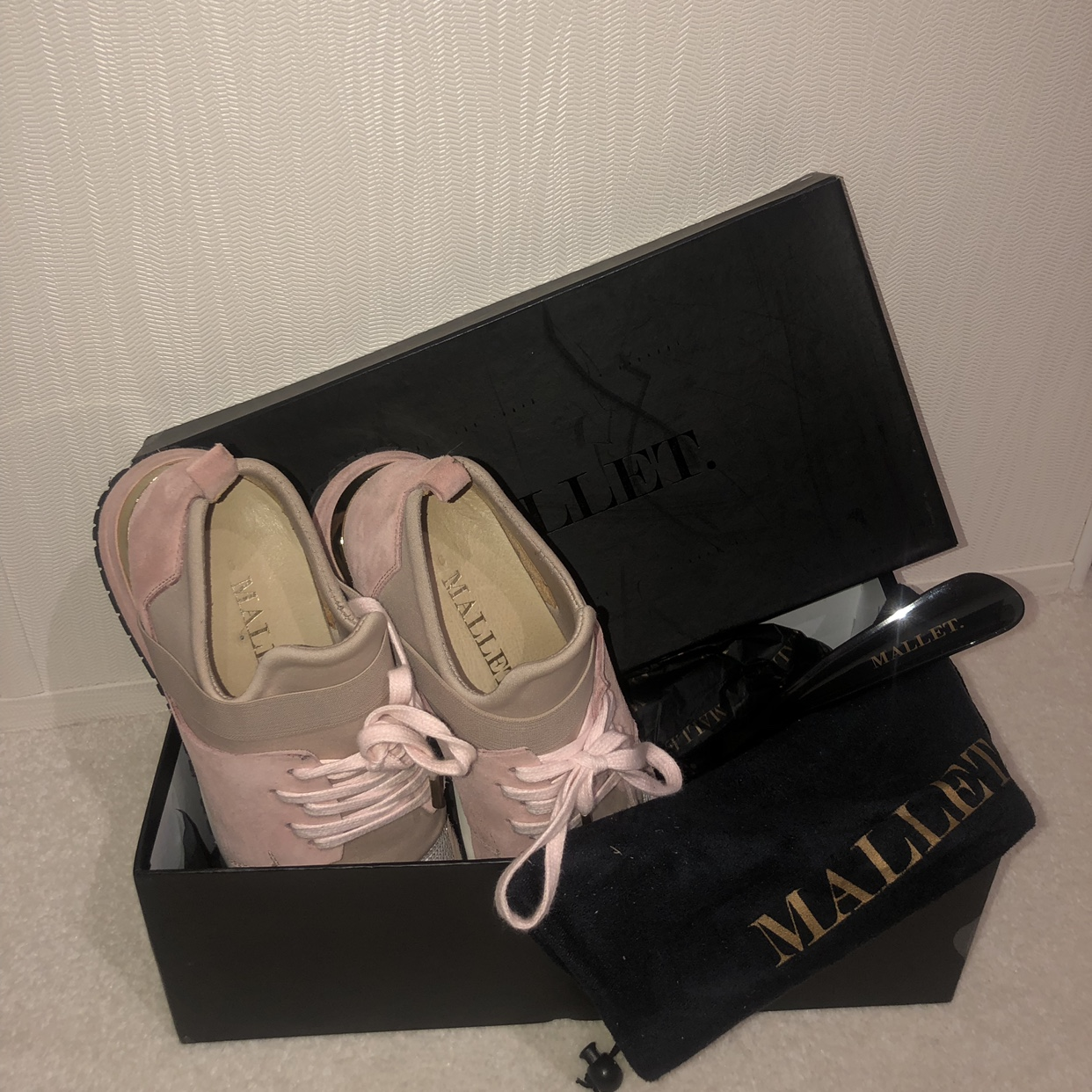 Tommy mallet pink and nude trainers