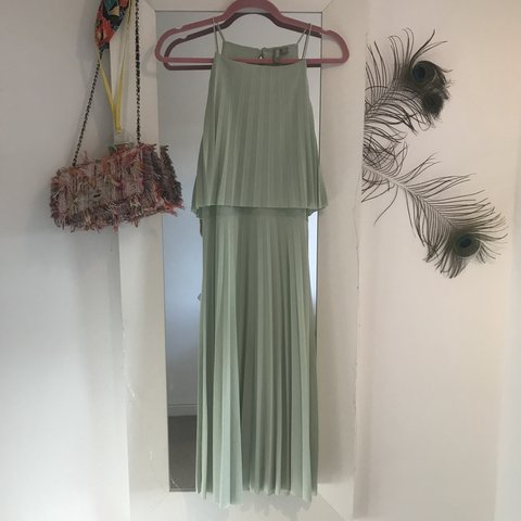 2406762d9eb4 Pale green pleated midi dress from ASOS. Worn once- perfect - Depop