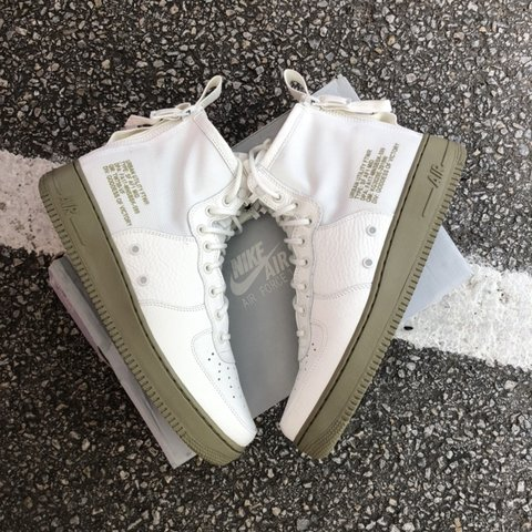 a1a472f05f @thriftselects. in 13 hours. Grand Prairie, United States. NIKE SF AF1 MID  Men's SZ 10.5 917753 101 IVORY NEUTRAL OLIVE MILITARY