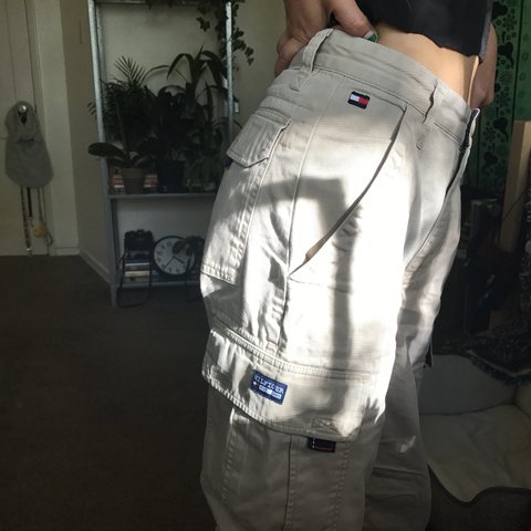 6559375e @sundropshop. 7 months ago. San Francisco, United States. Tommy Hilfiger  cargo pants🍏 ...