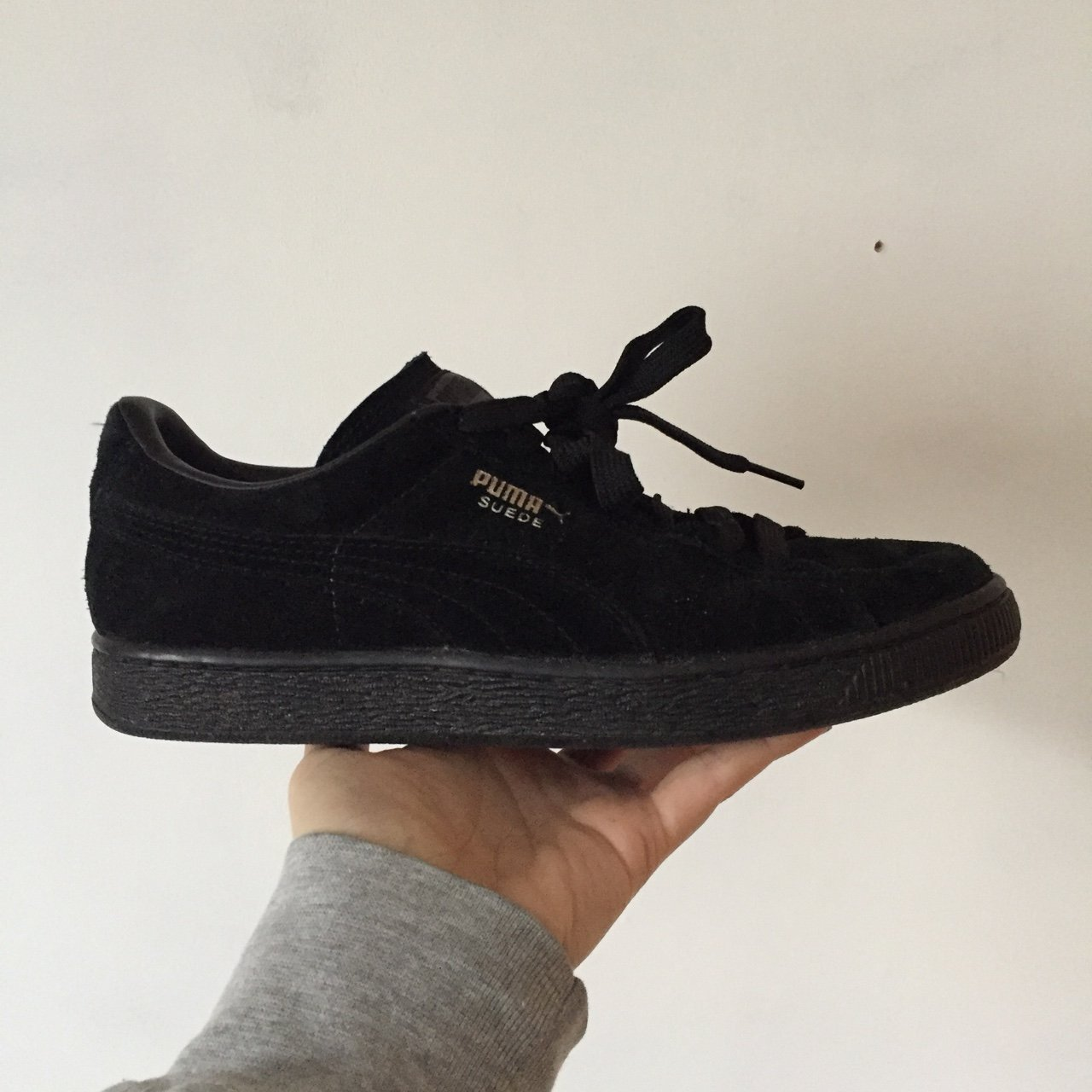 0ff2a1eeae VERY fresh Puma Suede black trainers! Love these shoes but - Depop
