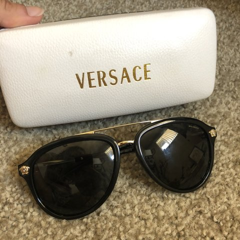 ae730941fa59 Versace polarized sunglasses. Gently used. Bought for $250 - Depop