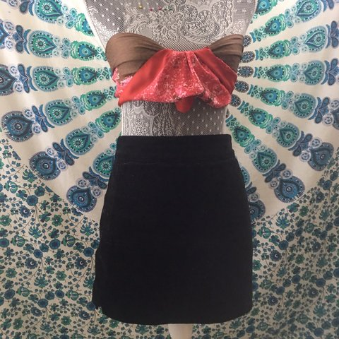 0b7acee5b5c Forever 21 Black Corduroy Skirt ~perfect condition ~goes or - Depop