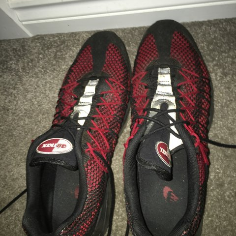 Nike air max 95 ultra jacquard red and black. Bought for 130 - Depop