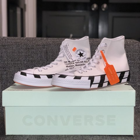 42d730342c7 Converse x Off White Chuck 70 UK 7   UK 8 Deadstock With buy - Depop