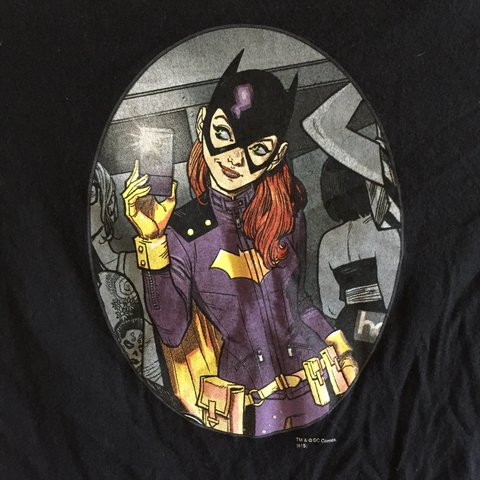 Selfie Batgirl Black Tshirt Straight From Illustration 1 Depop