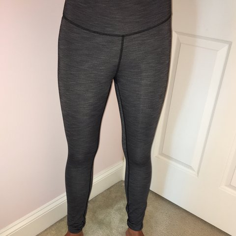 703d3c22c6dcef @catherinee35. 9 months ago. Gaithersburg, United States. Dark Gray  Lululemon Leggings Strip-ish Pattern Barely Worn