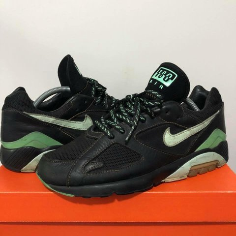 c5a312066 Nike air max 180 green poisons from 2005 US 9 Have reglued - Depop