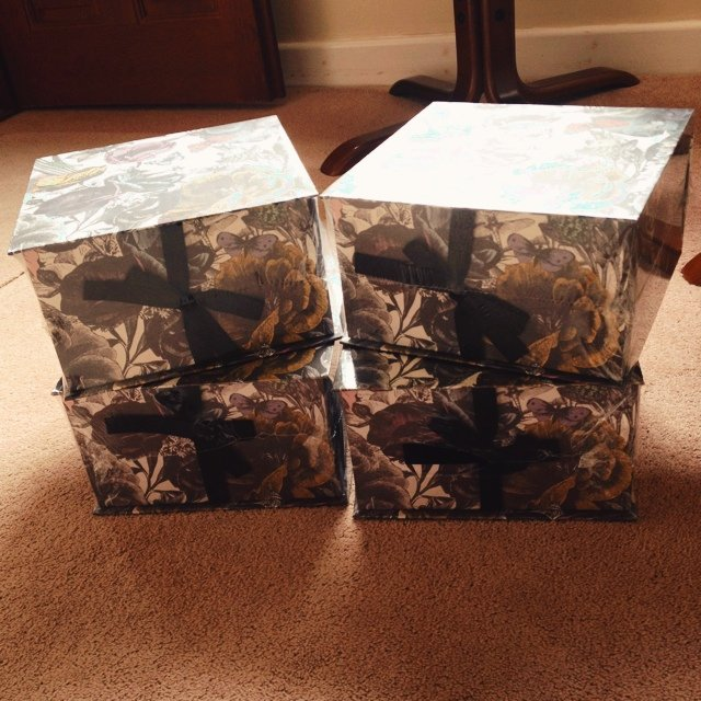 Paper chase gift boxes, floral- 0