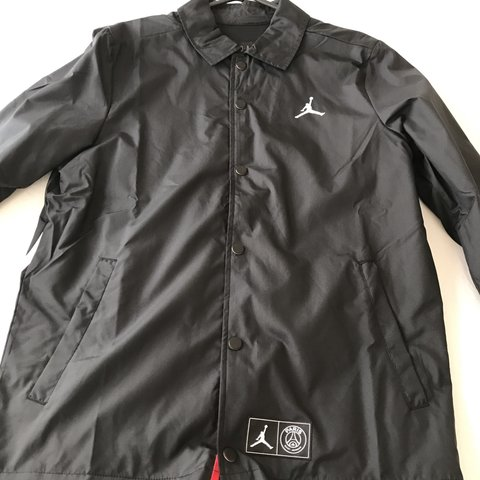 a16edbd2a3a DEADSTOCK PSG X Air Jordan Coach Jacket in a size small. I . - Depop