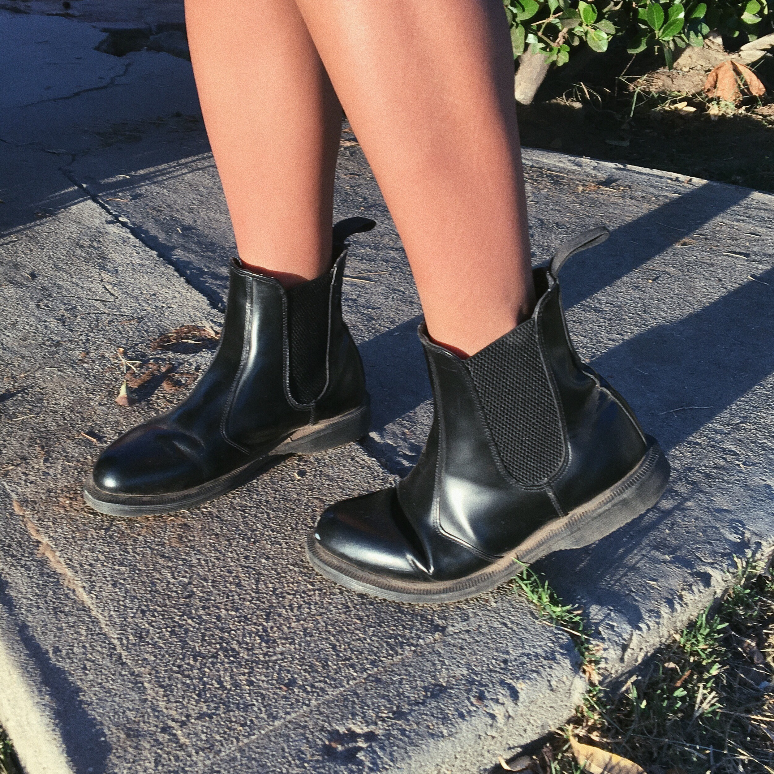 65e7ffc9ab5 dr. martens flora smooth boot. black polished... - Depop