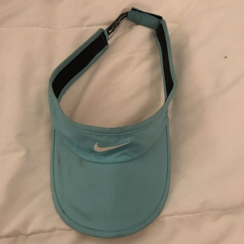b4418c6932be Baby blue nike visor Has some dirt stains on the front but - Depop