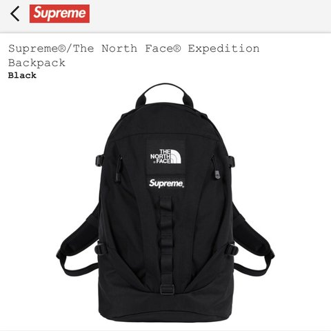 a3607568a05 @ljhuntley. 7 months ago. Kings Langley, United Kingdom. Supreme X The  North Face Expedition Backpack - Black