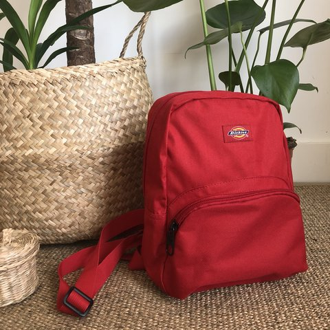 Mini Dickies backpack in red d507079ca75b2