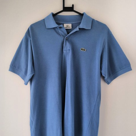 ccdd79171b3a4 Lacoste polo shirt in blue. 10 10 condition. Size Medium - Depop