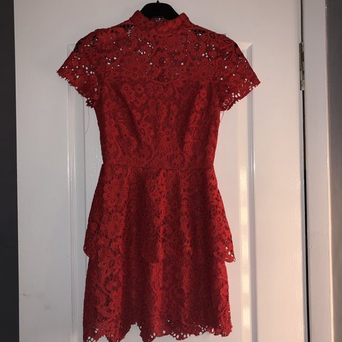 69caf58d2035 @zoedollard. last month. Gourock, United Kingdom. Red double layer skater  dress