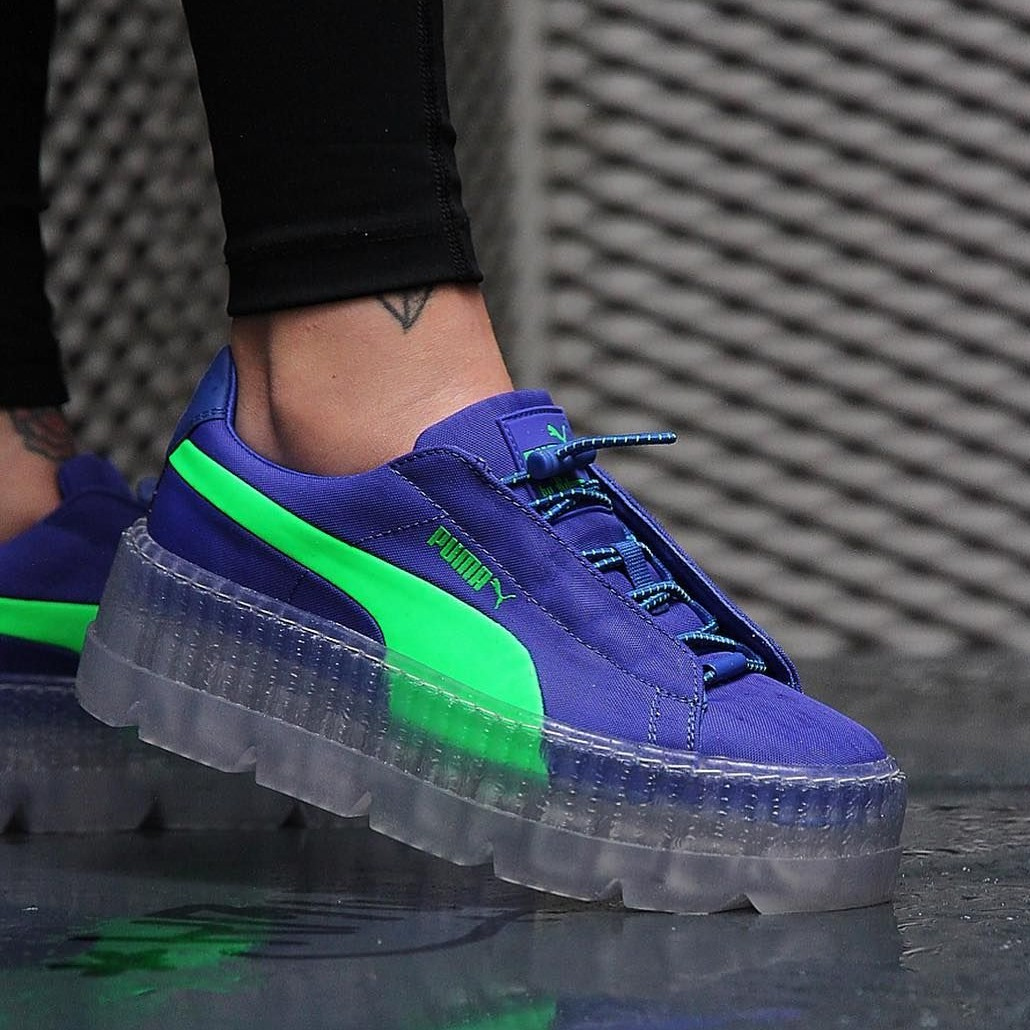 sneakers for cheap 61333 2328c Fenty Puma Cleated Creeper Surf Dazzling Blue /... - Depop