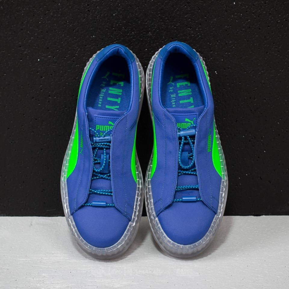 sneakers for cheap 804f2 23e8c Fenty Puma Cleated Creeper Surf Dazzling Blue /... - Depop
