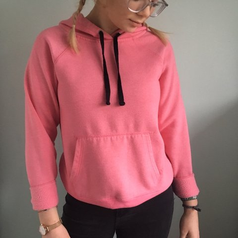 e4ee8fe3f8f Forever 21 pink hoodie Size S (seen on 10-12) In good me any - Depop