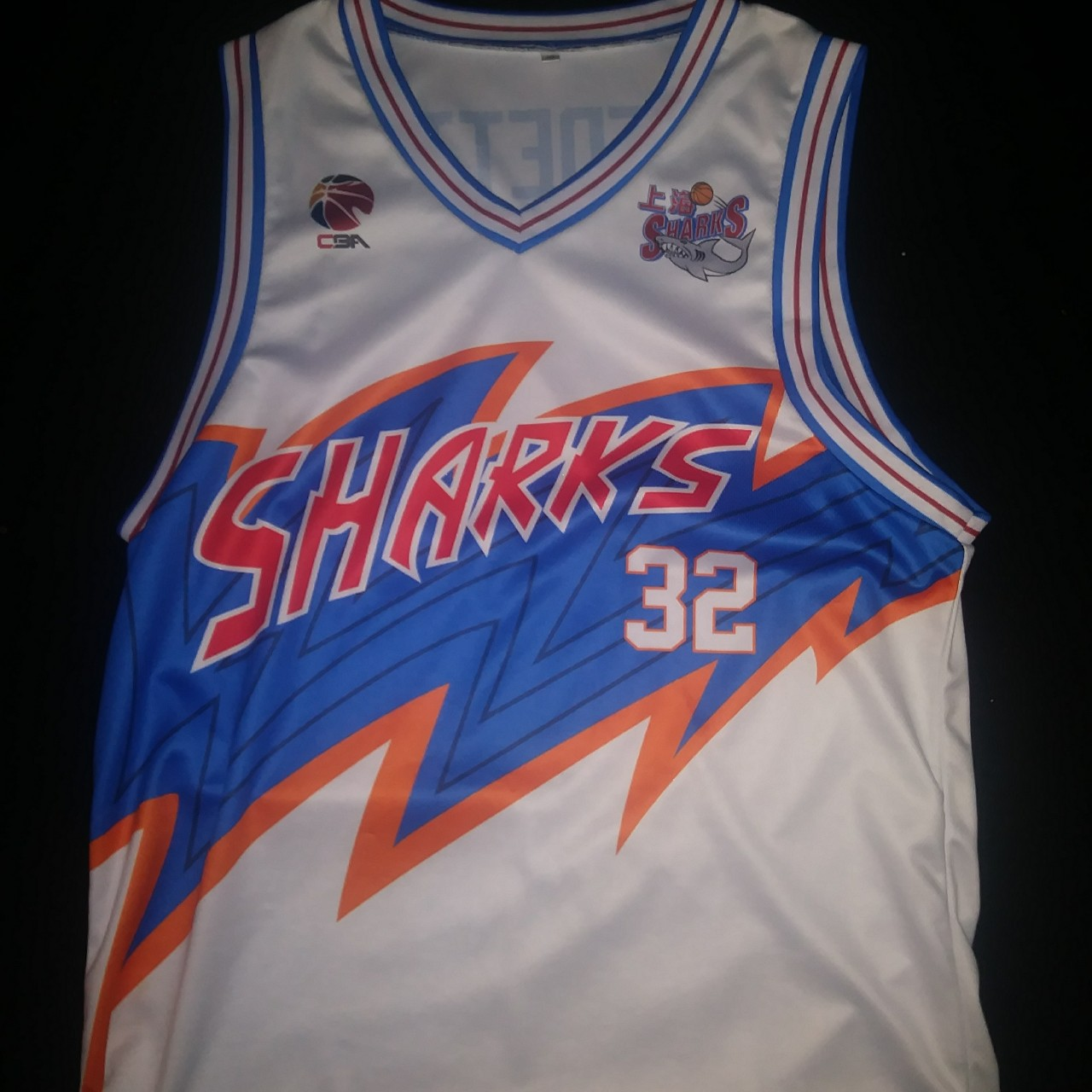info for 704d8 86eb3 #32 Jimmer Fredette Shanghai Sharks Home... - Depop