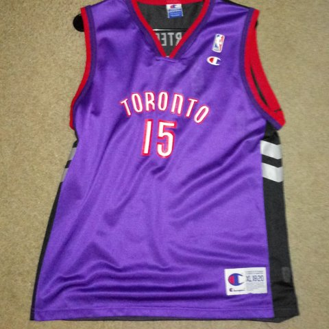 73f86ae3ccdf Vintage Champion Youth XL Jersey Vince Carter   Toronto Tag - Depop