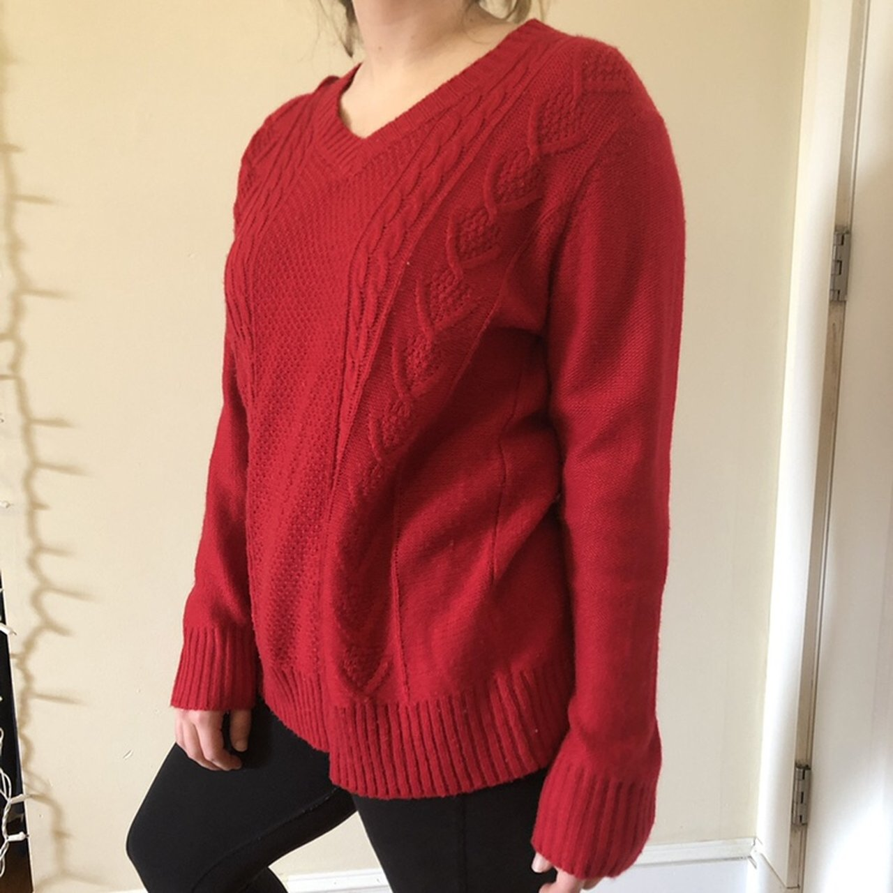 Women s Red oversized sweater Very comfy 4669d102a