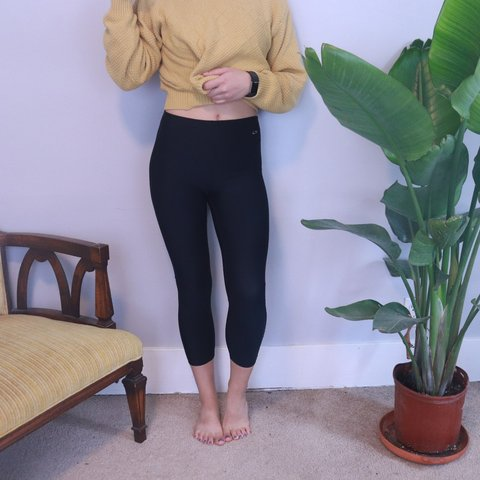 2f25a8d5d684fe @honey_bee_thrift. 7 months ago. Lansing, Ingham County, United States. Champion  Cropped Black High Waisted Leggings