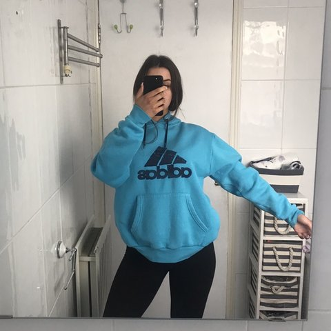 fd24a8c71b5f  reworkit. last month. United Kingdom. Vintage light blue adidas hoodie.