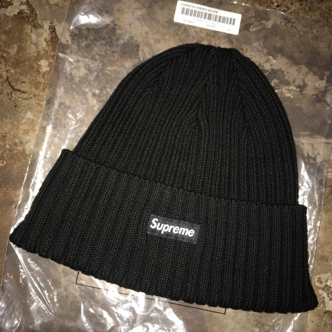 f01d7119c591c Overdyed ribbed supreme beanie. Perfect quality   only worn - Depop