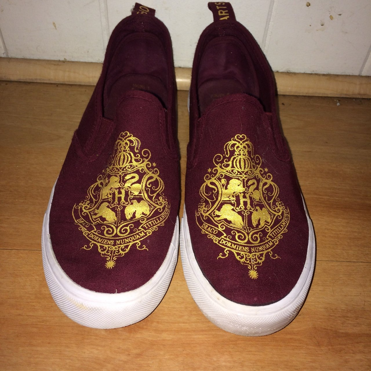 bd75894c5dd6 Maroon Harry Potter vans. In near perfect condition