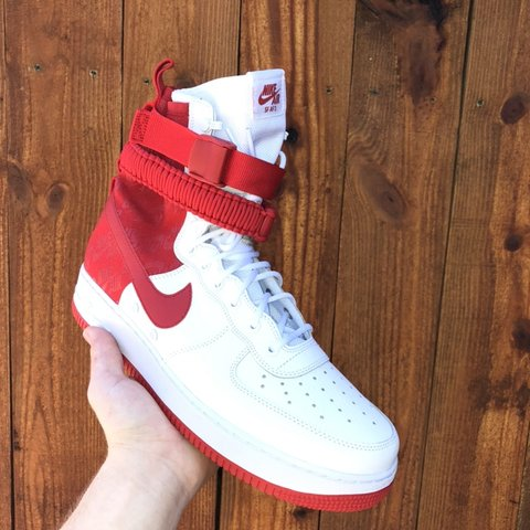 "separation shoes b4926 4b59f  commoditees. 5 months ago. Dunedin, United States. Nike SF Air force 1  ""university red"" size 12"