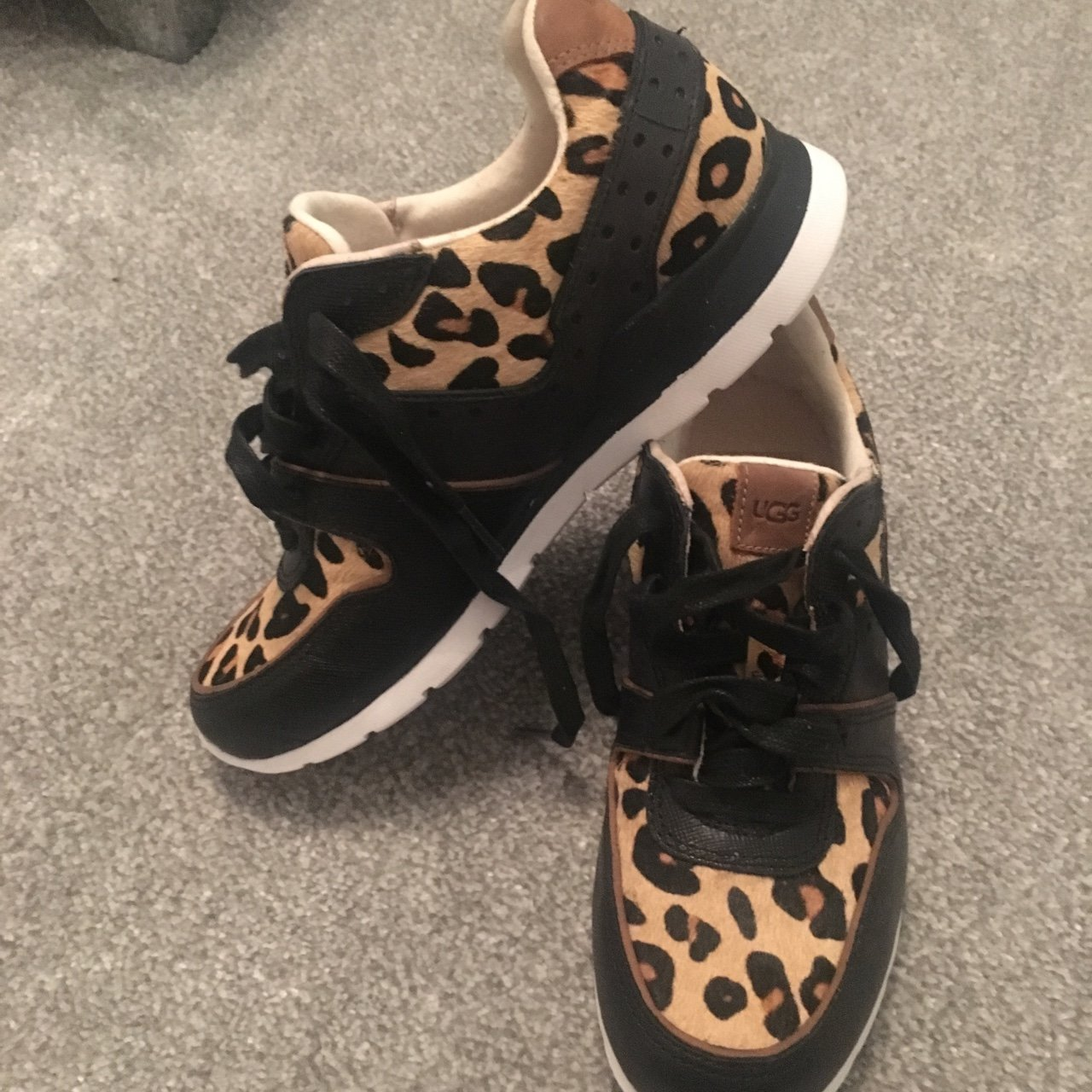 Ugg Leopard Print Trainers, new without