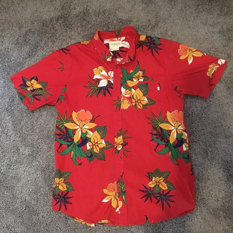 7fe3ca65 @nes818. 8 months ago. Los Angeles, United States. Obey Red Hawaiian button  down shirt