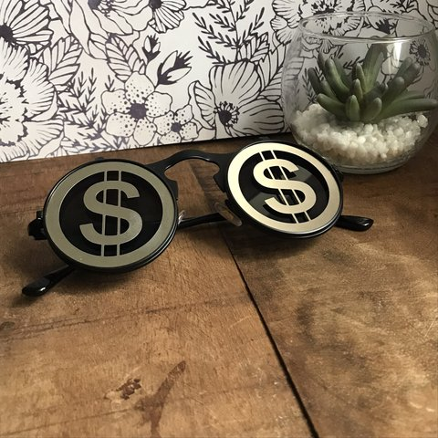 b2aab15a9cd2 Money sign sunglasses Each lens moves up and down Dollar is - Depop
