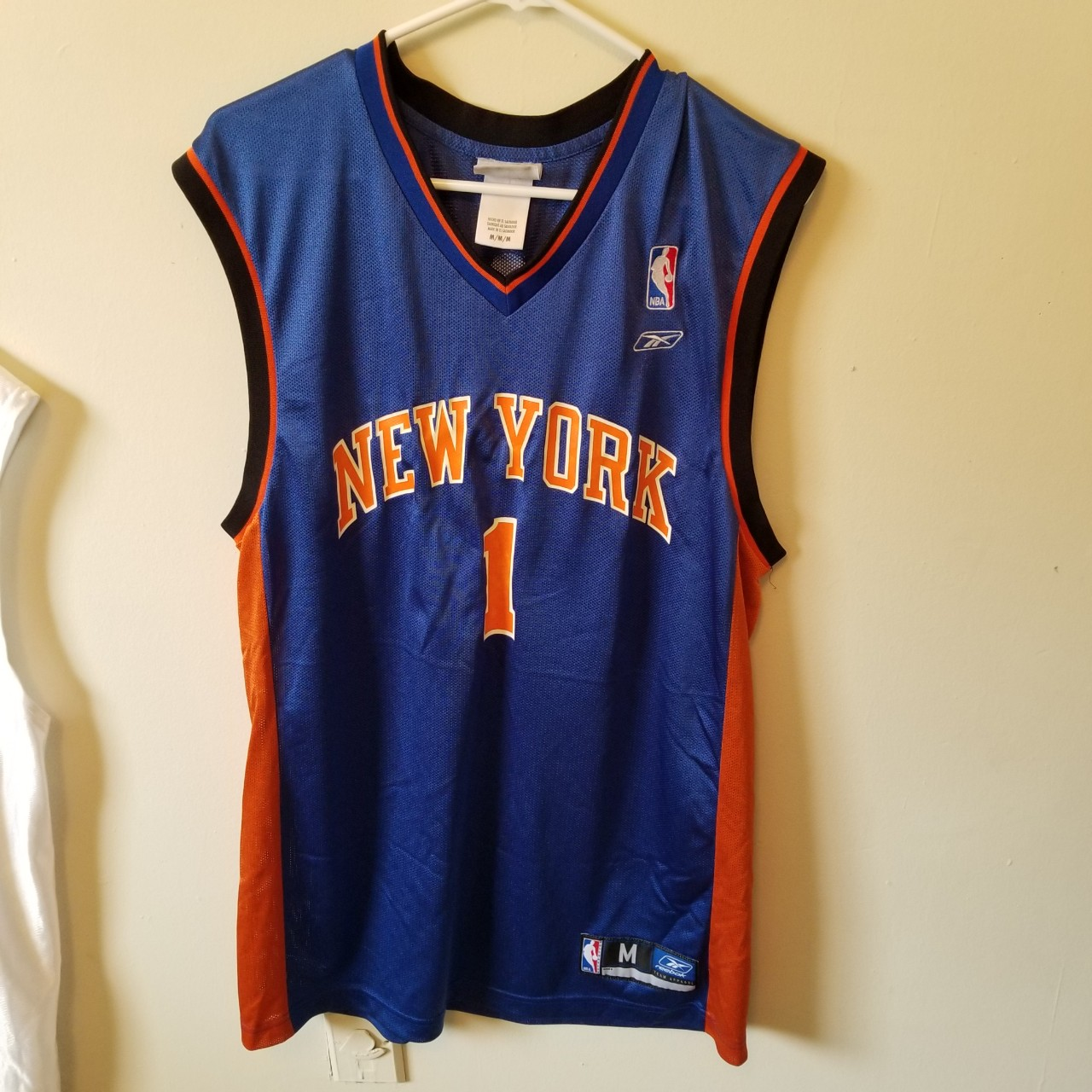 timeless design 46121 ce298 New York Knicks #1 Jersey - Size M The jersey is in... - Depop