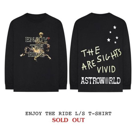 "388ce034f808 TRAVIS SCOTT ASTROWORLD MERCHANDISE ""ENJOY THE RIDE"" SIZE IN - Depop"