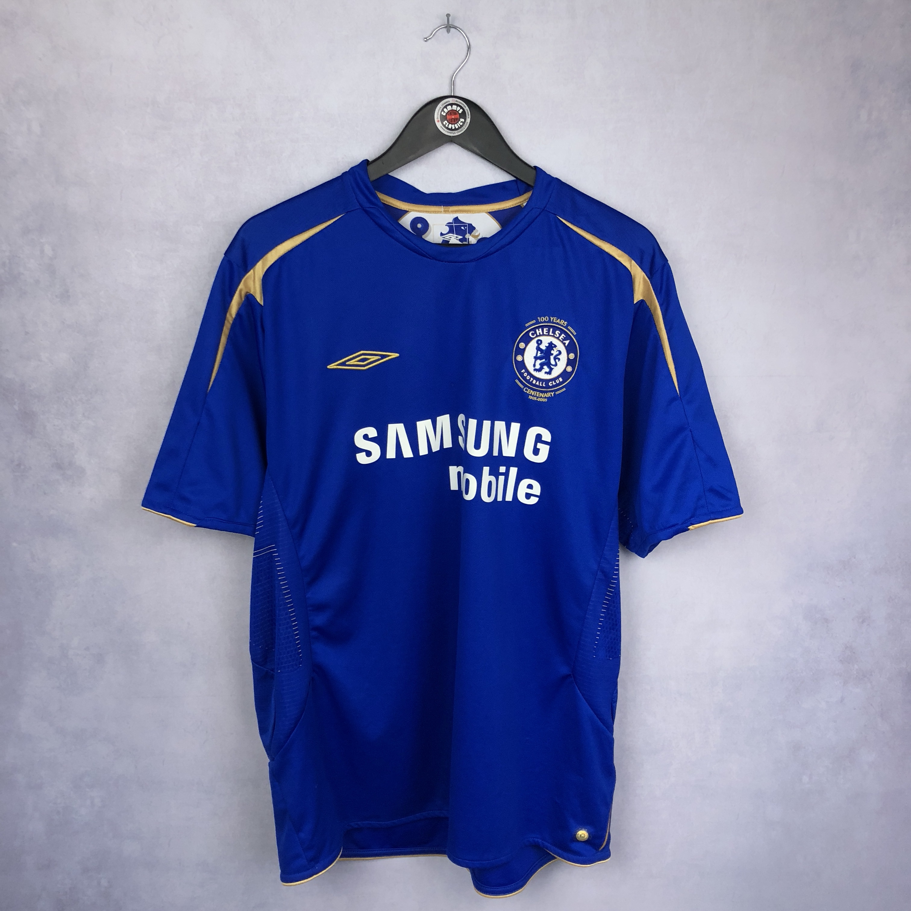 huge discount d53b6 4ad05 Umbro Chelsea FC 100 year anniversary Y2K 2005 kit ...