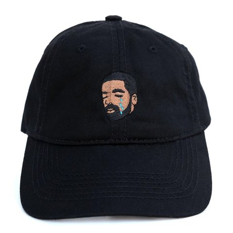 2e22f78fb9ad7 Drake crying embroidered maroon dad hat maroon