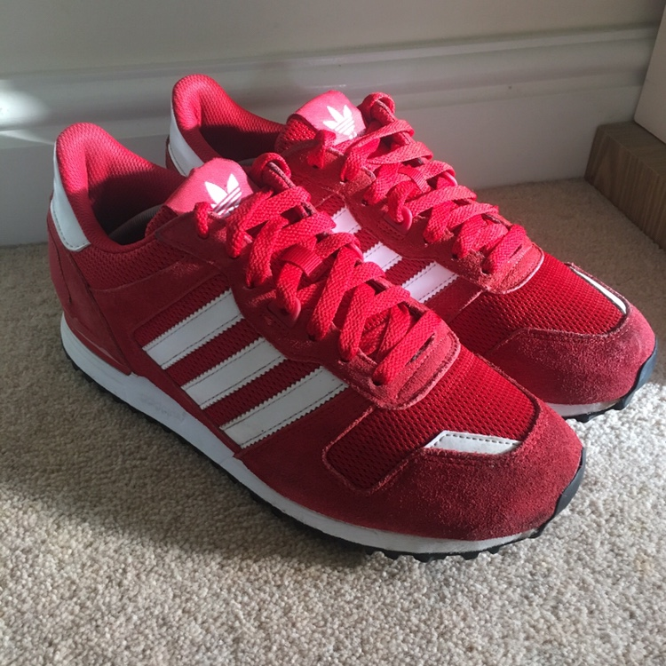 official photos 322b3 2ad2d Adidas zx 700 red trainers. Size UK 8. Good... - Depop
