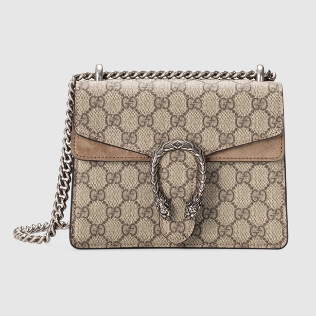 5c767fb6d GUCCI BAG : Dionysus GG supreme mini bag in tan... - Depop