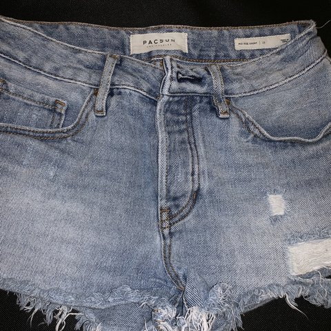 1a633e5c0e three pairs of pacsun denim shorts sold together!! sizes 0, - Depop
