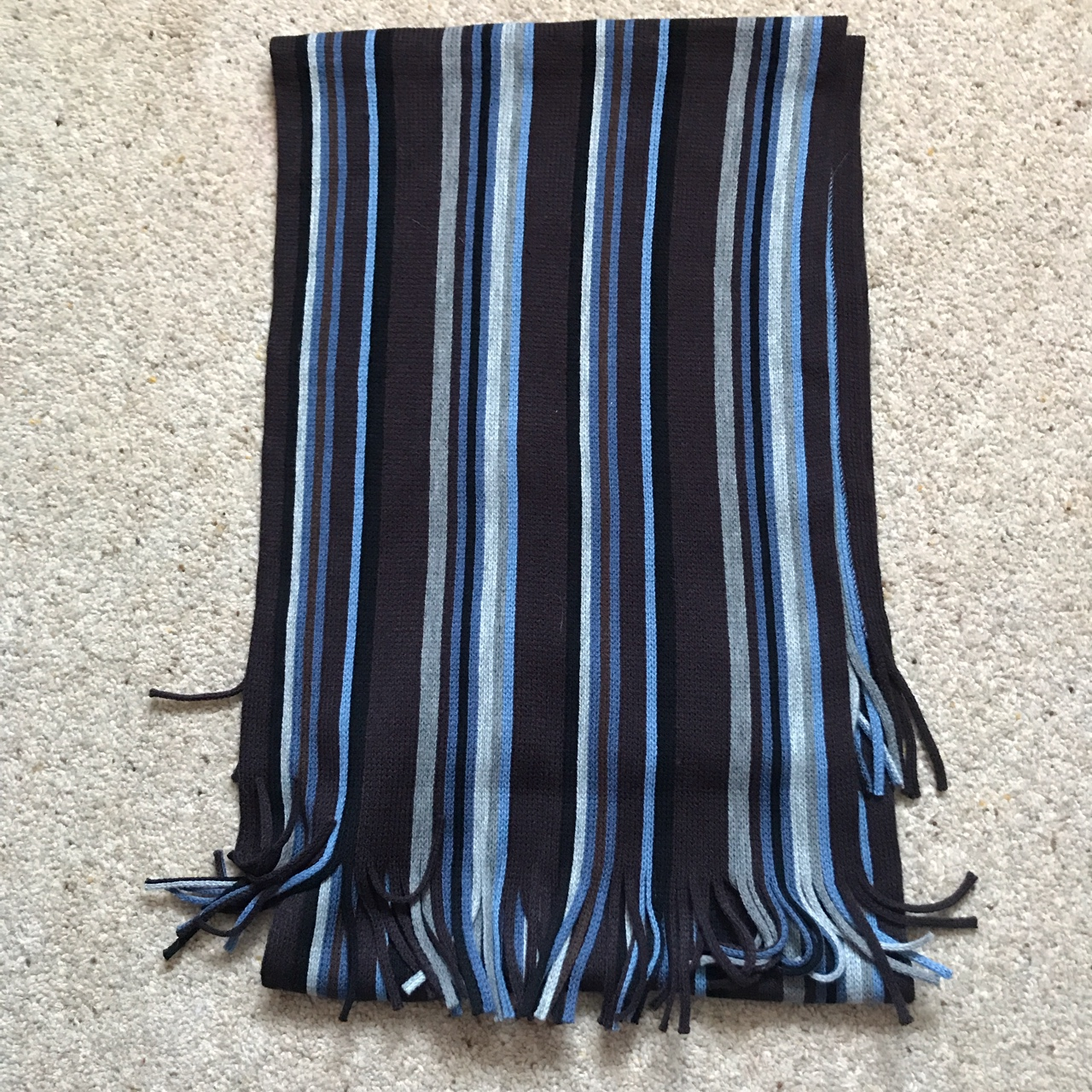 Brand New Austin Reed Men S Scarf Striped Black Depop