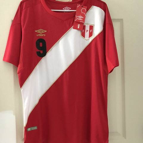 3324fc42 @soccer10101. 7 months ago. Atlanta, United States. Umbro away peru world  cup jersey. Comes with tags