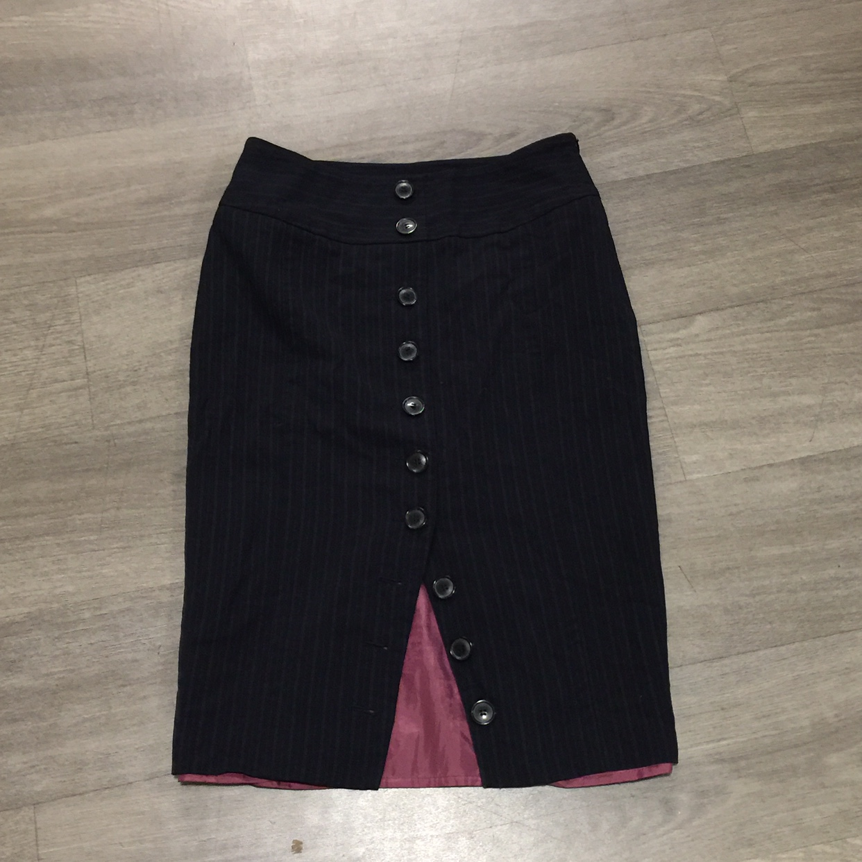 Austin Reed Size 10 Pin Stripe Body Con Skirt Lined Depop