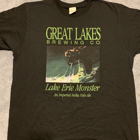 0fbb325e3 Great Lakes Brewing Company t shirt. Lake Erie Monster Nice - Depop
