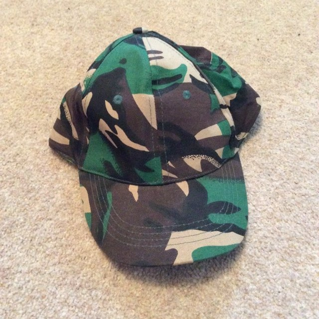 Camouflage army style baseball cap for sale. Message me for - Depop a3ab2642dd39